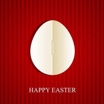 Happy easter greeting card - Free vector #130401
