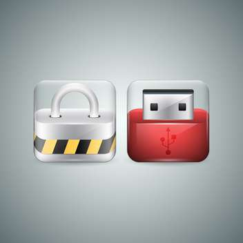 flash drive vector icons - vector gratuit #130431