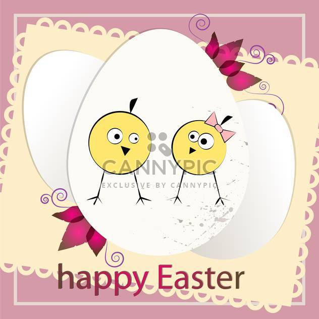 happy easter holiday card background - Free vector #130481