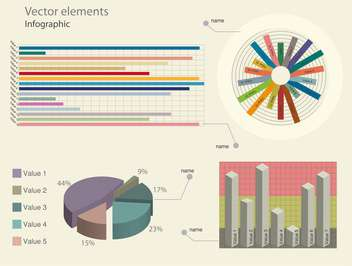 infographic elements vector illustration - vector gratuit #130491