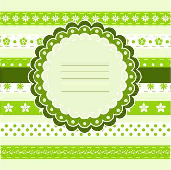 Vector Happy Birthday green card with frame and flowers - vector gratuit #130531
