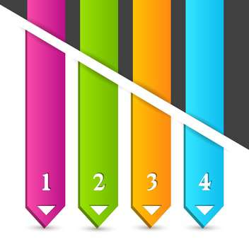vector illustration of colorful arrows - vector #130661 gratis