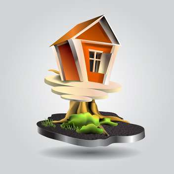 Vector Illustration of small tree house - vector gratuit #130671