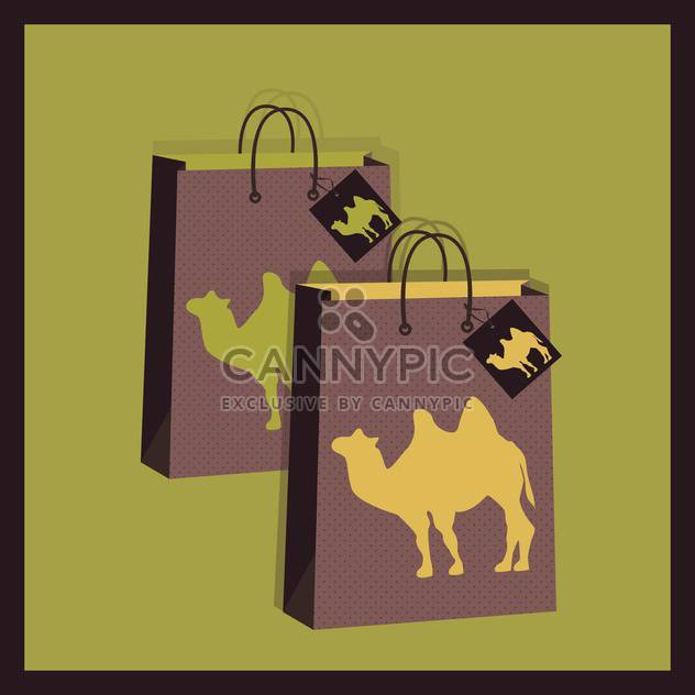 shopping bags with camel illustration - Free vector #130721