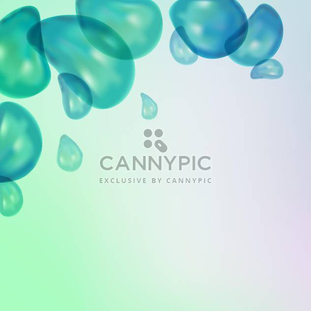 Vector background with water bubbles on blue background - Free vector #130771