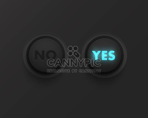Yes no button with black panel - Free vector #130851