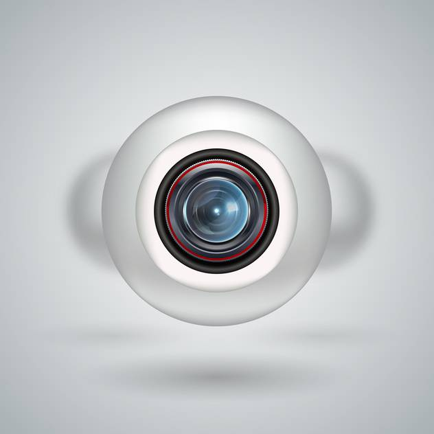 Realistic white webcam on white background - vector gratuit #130901
