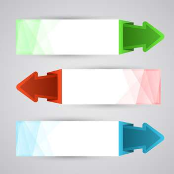 Vector arrow banners set illustration - Free vector #130921