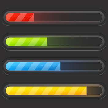Modern color loading bars set - vector gratuit #130961
