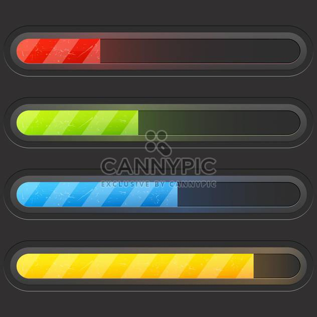 Modern color loading bars set - Free vector #130961