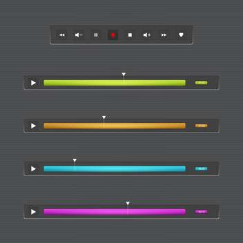 Vector illustration of audio or video bar for web - бесплатный vector #131021