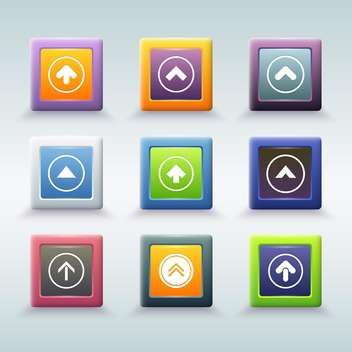 web buttons with arrow icons vector set - vector gratuit #131061