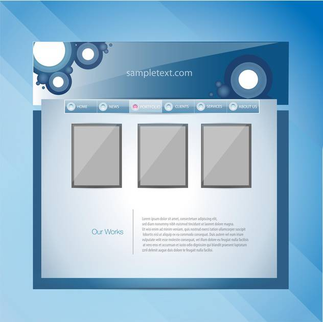 Web site design template vector illustration - Free vector #131081