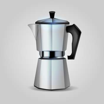 Vector cofee maker illustration on grey background - vector gratuit #131091