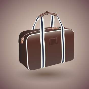 Vector traveler's brown suitcase illustration - vector gratuit #131121