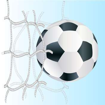 Vector football ball in the goal net - vector gratuit #131131