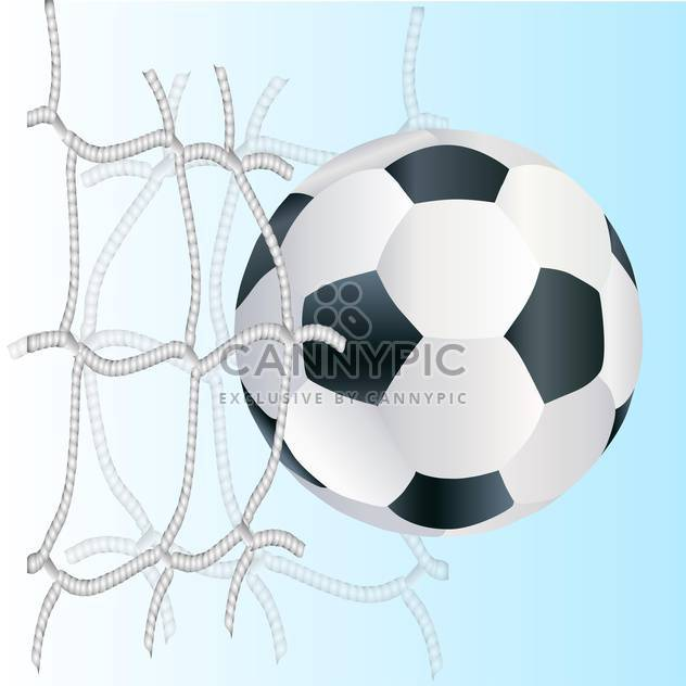 Vector football ball in the goal net - Free vector #131131