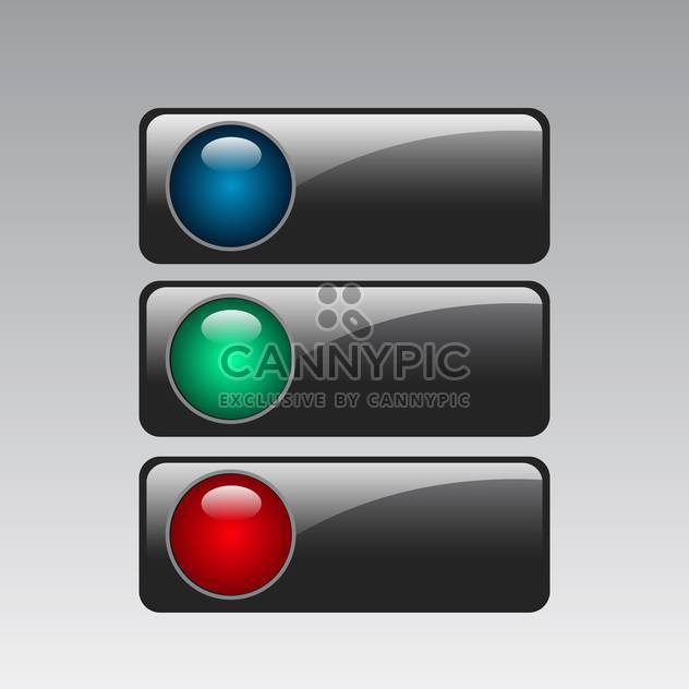 Vector color web buttons set - Free vector #131151