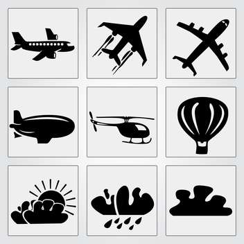 Travel icons set vector illustration - vector #131181 gratis