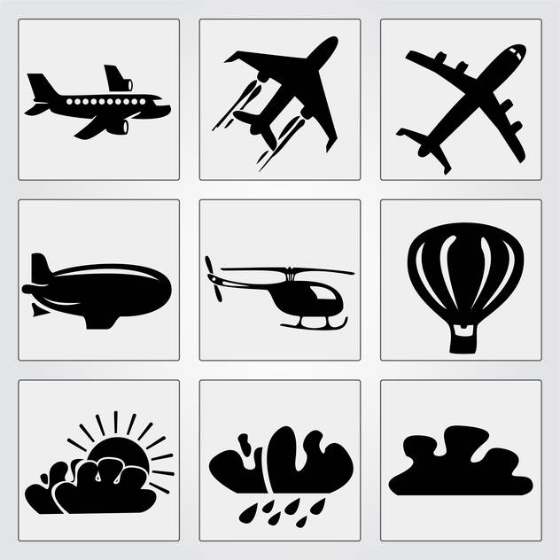 Travel icons set vector illustration - Free vector #131181