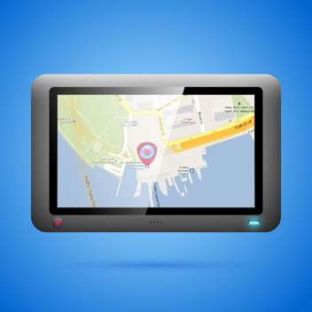 GPS navigation concept vector illustration - vector gratuit #131201