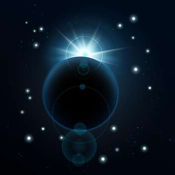 One blue planet in deep space vector illustration - Kostenloses vector #131241