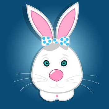 Cute funny bunny vector illustration - Free vector #131251