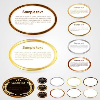 Set of oval-shaped web buttons vector illustration - Kostenloses vector #131281