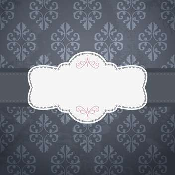 Vintage frame template with space for text - vector gratuit #131381