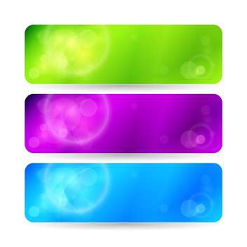 Vector color banners on white background - vector gratuit #131401