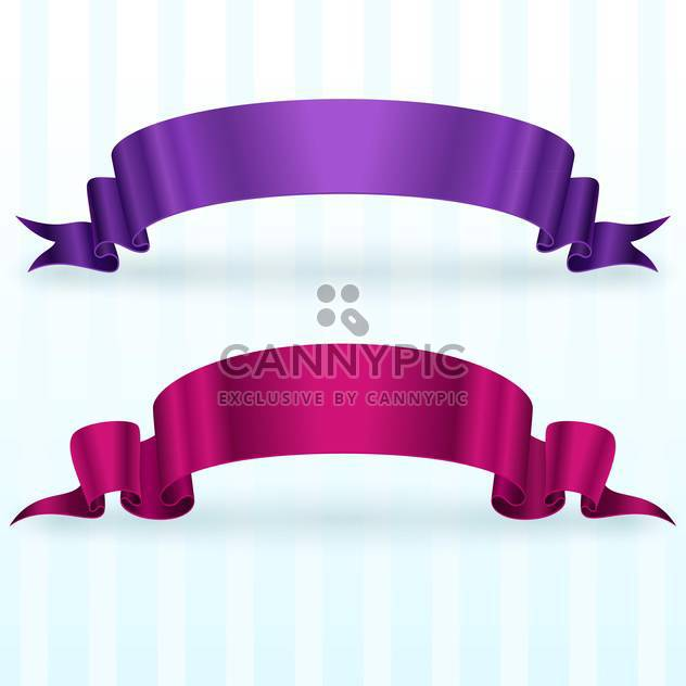 Vector set of banners with ribbon - Kostenloses vector #131411