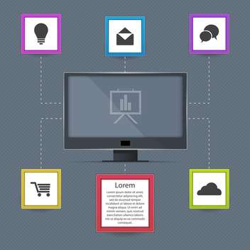 Vector communication icons on grey background - vector gratuit #131441