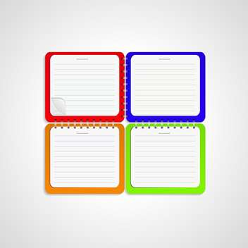Vector notepad paper illustration - Free vector #131461