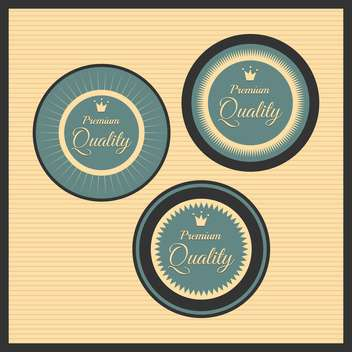 Collection of premium quality labels with retro vintage styled design - бесплатный vector #131541