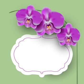Vector illustration with floral frame - vector gratuit #131571