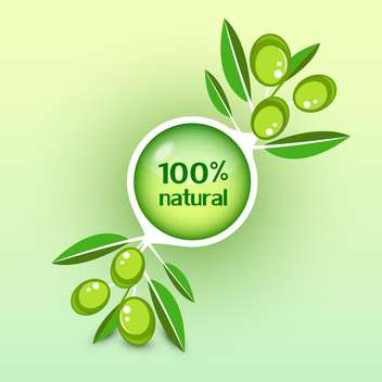 Icon of vector olive branch - vector gratuit #131601