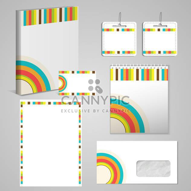 Professional corporate identity kit - Free vector #131611