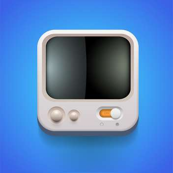 Media player vector icon - vector gratuit #131631