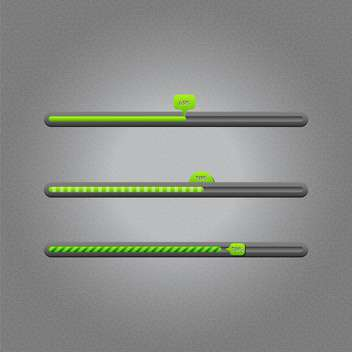 Vector loading bars on grey background - vector #131641 gratis