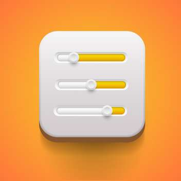 User interface power sliders vector illustration - Free vector #131691