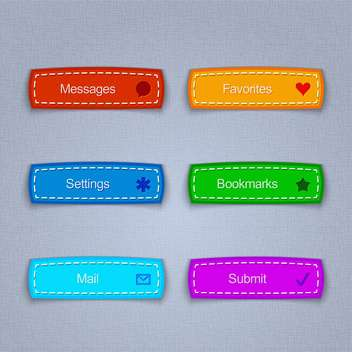 Vector set of colored web buttons - Free vector #131701