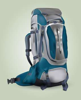 Vector illustration of a tourist backpack - vector gratuit #131731