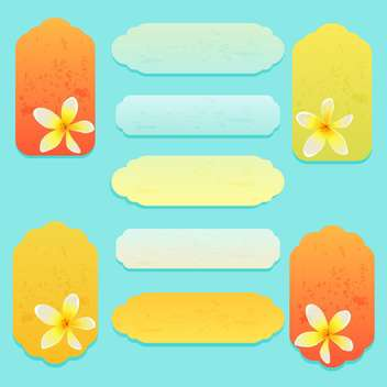 Set of greeting cards with flowers vector - vector gratuit #131761