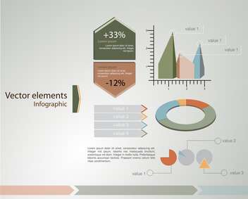 Vector infographic elements illustration - vector #131771 gratis