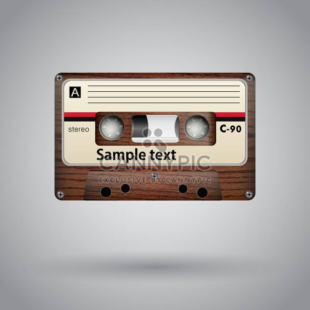 Audio cassette on grey background vector illustration - Free vector #131781