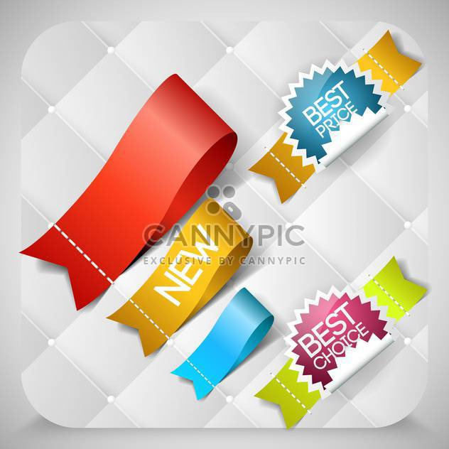 Vector stickers set with best choice message - Free vector #131831