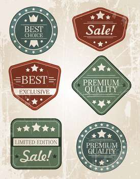 Set of retro vintage badges and labels - vector gratuit #131861