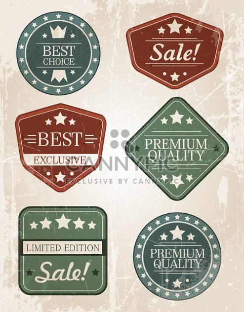Set of retro vintage badges and labels - Free vector #131861
