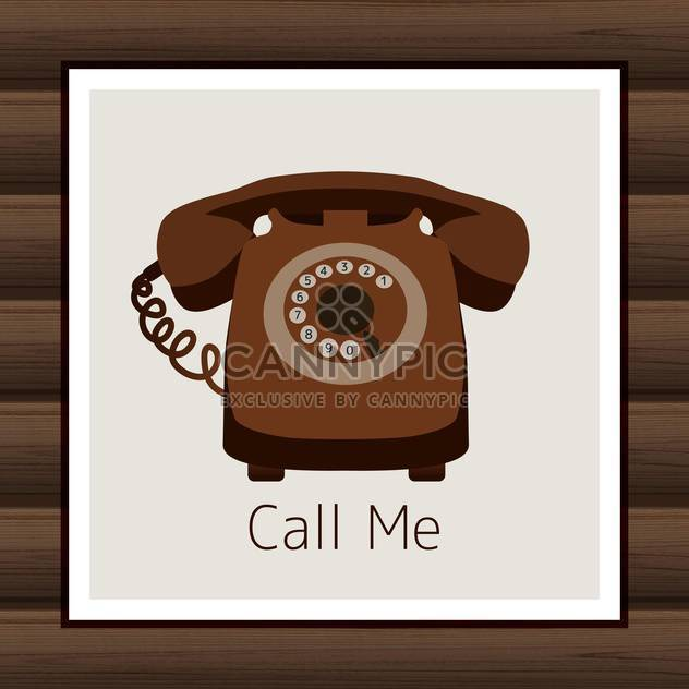 Card with vintage phone vector illustration - Free vector #131871