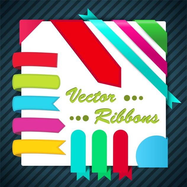 Decorative ribbons set vector illustration - Free vector #131881